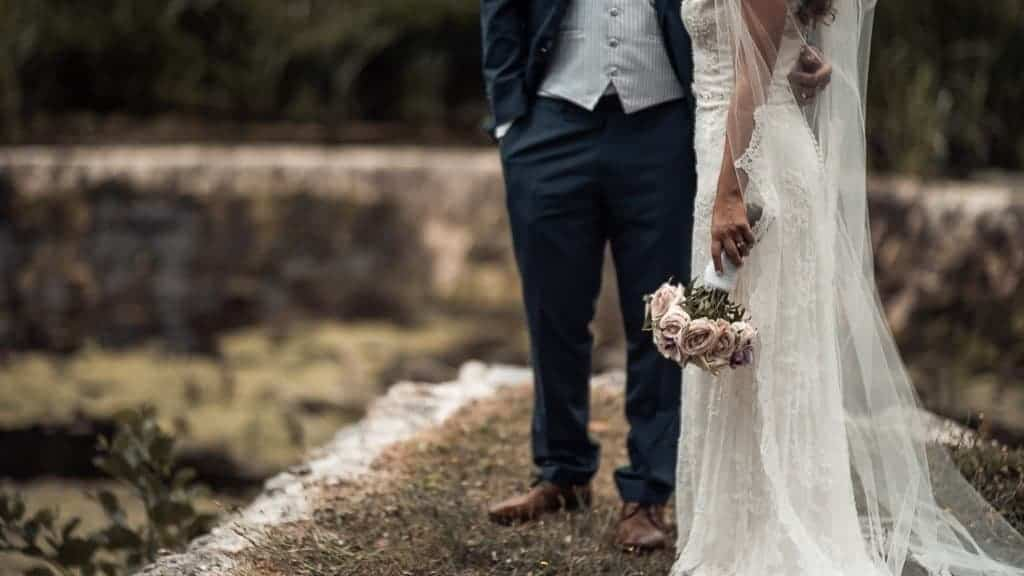 Bellingham Castle Wedding Couple