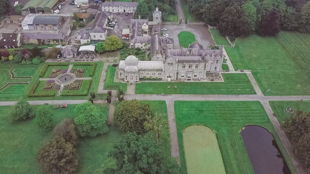 Killruddery House Aerial Drone Wedding Videographer