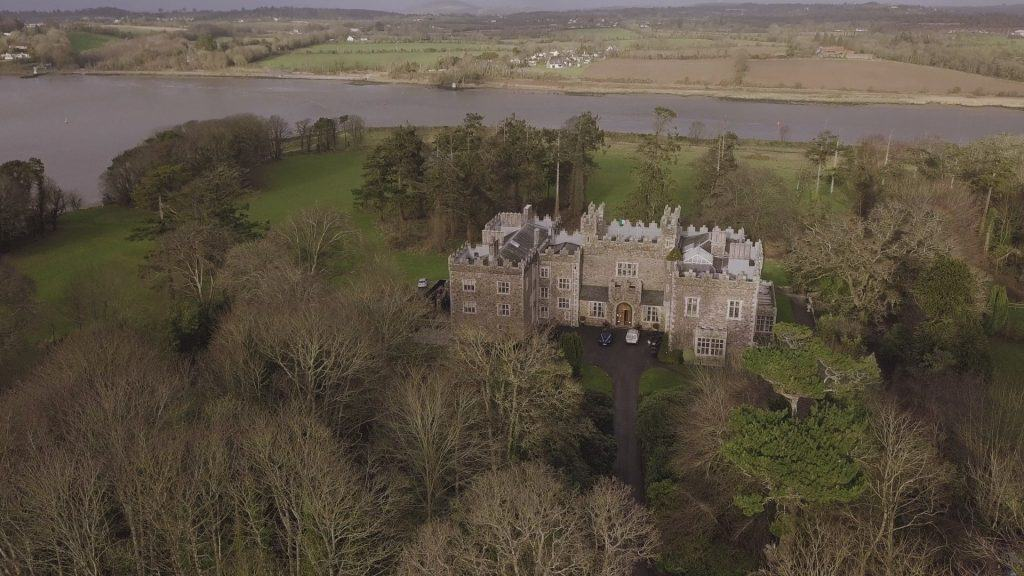 Waterford Castle Wedding Videographer Aerial Drone Photo