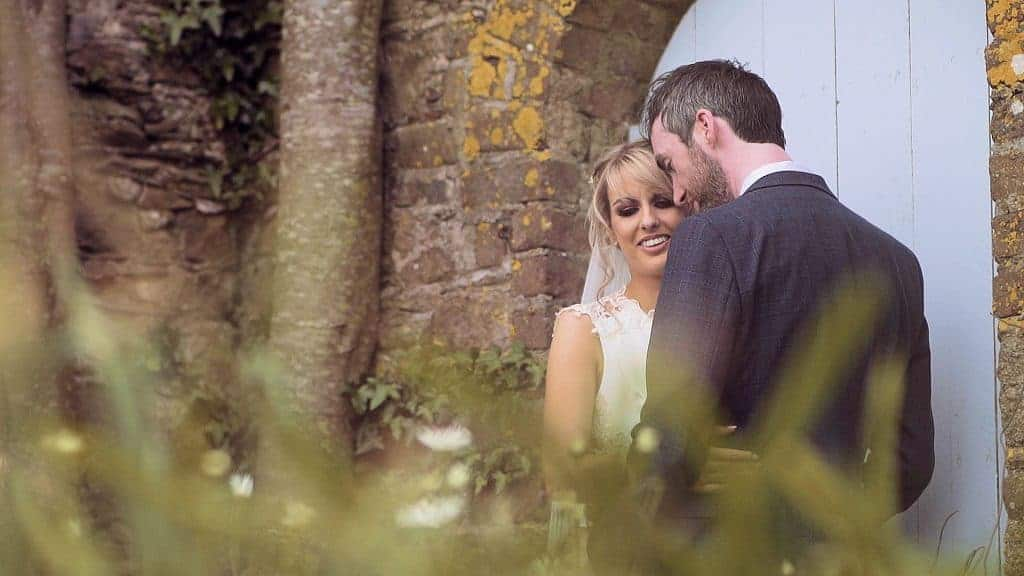 Bride and groom at Horetown House