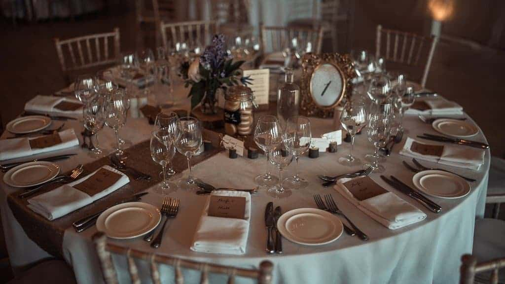 wedding room layout at horetown house