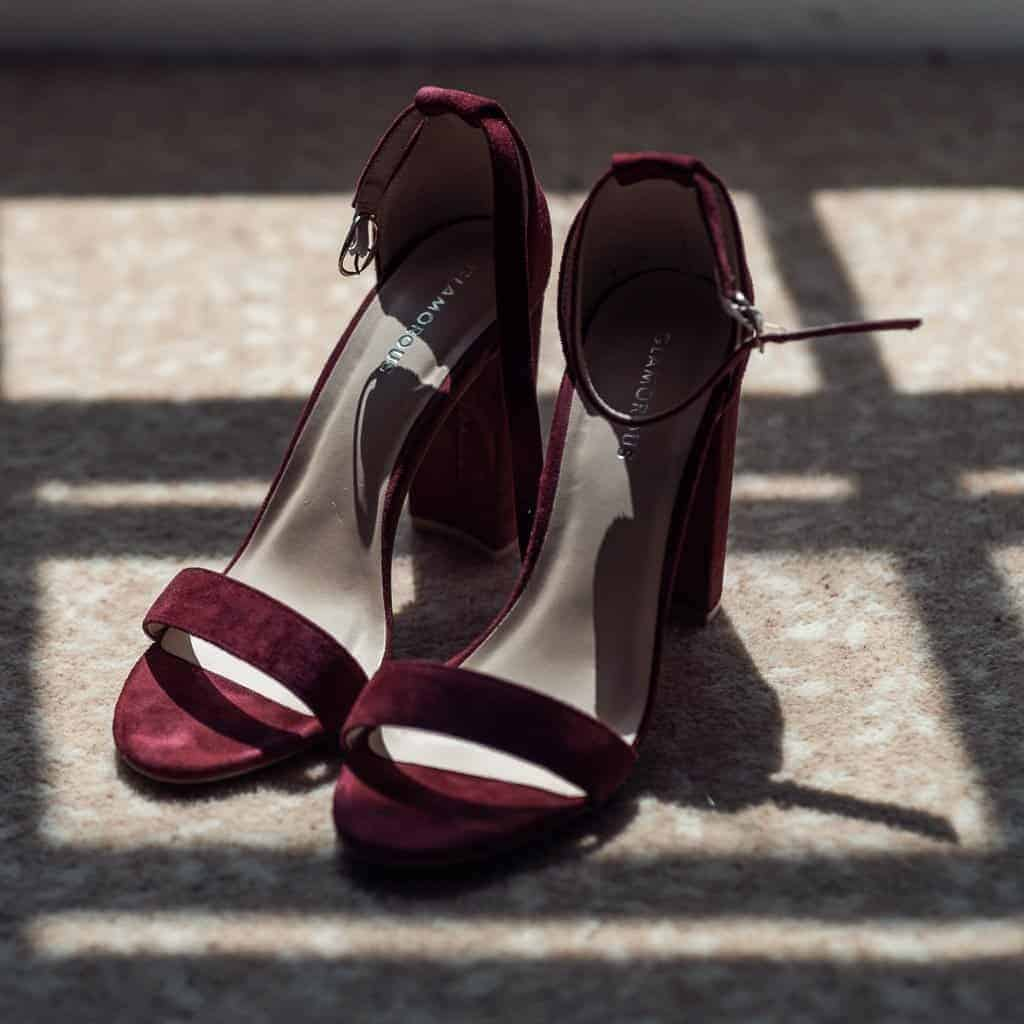 wedding shoes at Horetown House