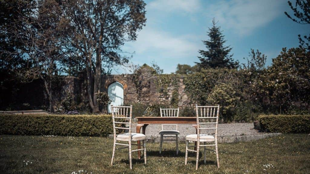 civil ceremony outdoors at horetown house wexford