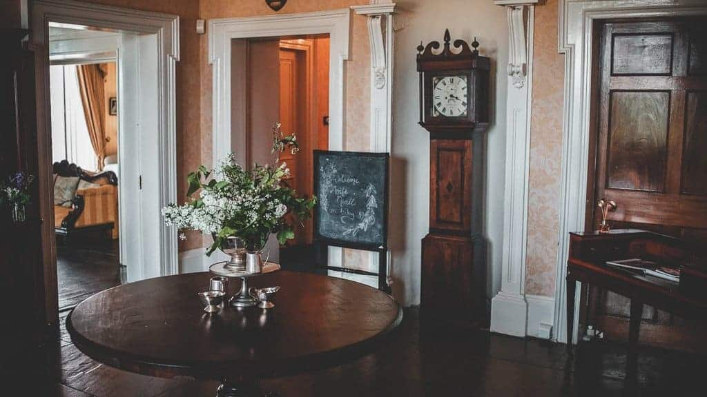 grandfather clock at horetown house