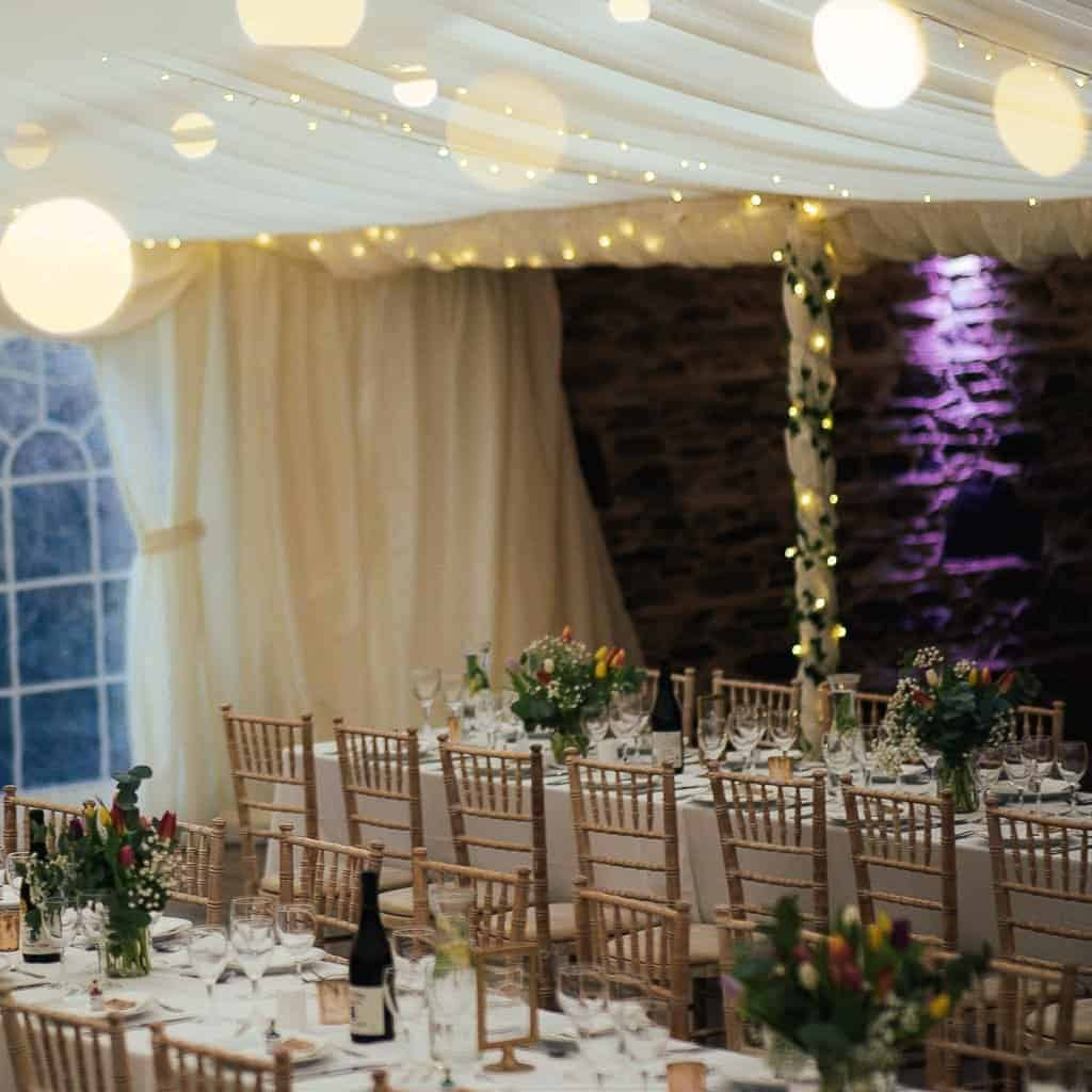 Trudder Lodge Wedding Marquee Layout