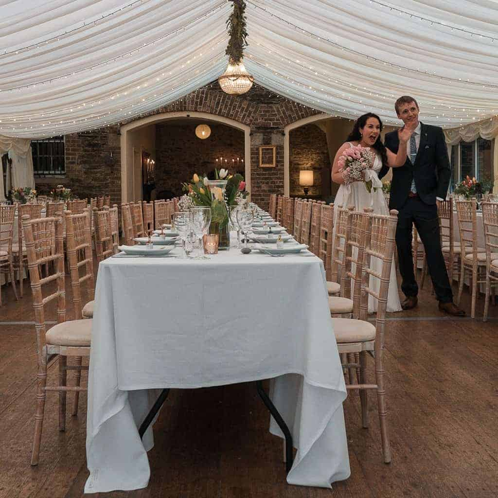 Trudder Lodge Wedding Couple, Aine and Joe